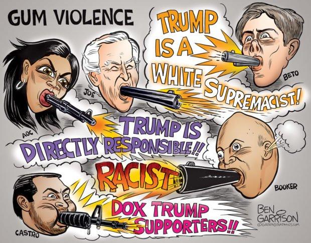 Photo of Gum Violence – Grrr Graphics – Ben Garrison Cartoon