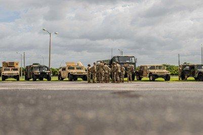 Photo of Guardsmen Ready to Respond to Hurricane Dorian