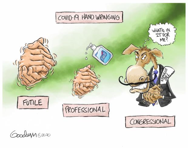 Photo of Hand Wringing – Al Goodwyn Cartoon