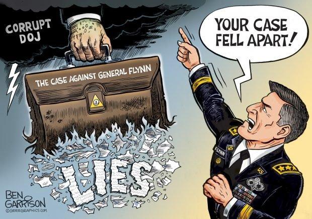 Photo of Justice for General Flynn – Ben Garrison Cartoon