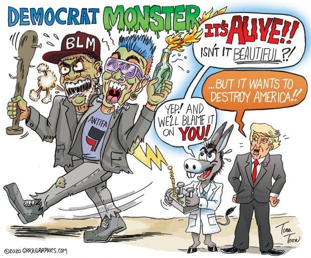 Photo of The Democrat Monster – Tina Toon